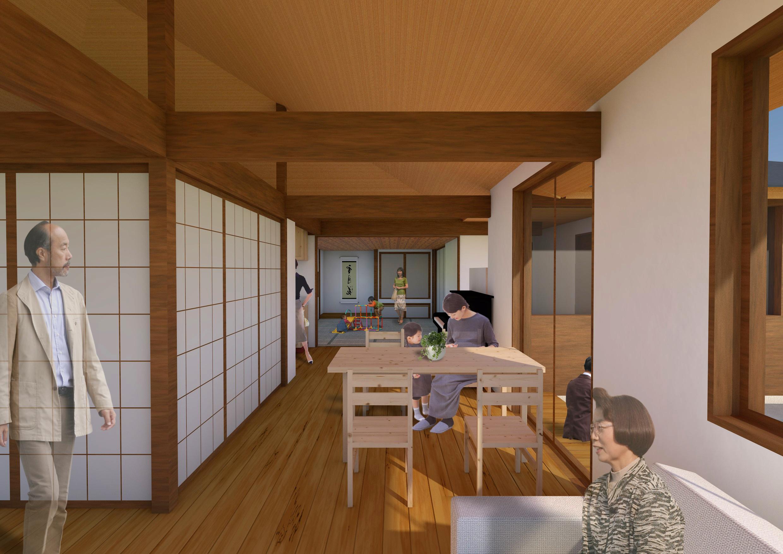新築注文住宅の計画案パース