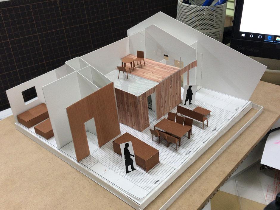 1/50スケール建築模型ラフ