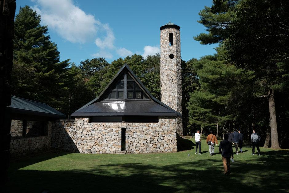 森の教会、石彩の教会建築家