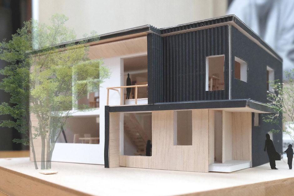 十勝注文住宅計画案建築模型